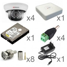 Комплект видеонаблюдения для помещения